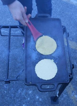warming up tortilla