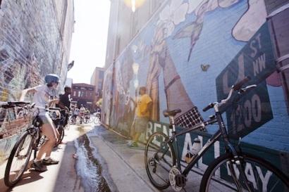 Cyclists along U Street